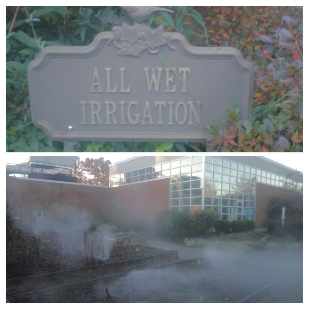Mendham, NJ - Winterize sprinkler system at school  Courtyard