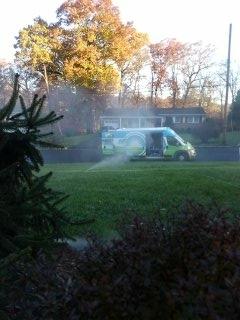 Chester, NJ - 4 zone sprinkler system winterization to start the day!!!