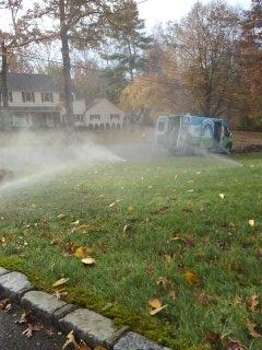 Millburn, NJ - 10 zone sprinkler system being blown out; Short Hills Winterizes!!!