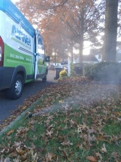 Bernards, NJ - 3 zone sprinkler system being blown out bright & early; Basking Ridge Winterizes!!!