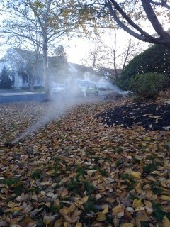 Bernards, NJ - 6 zone sprinkler system just about winterized in Basking Ridge!!!