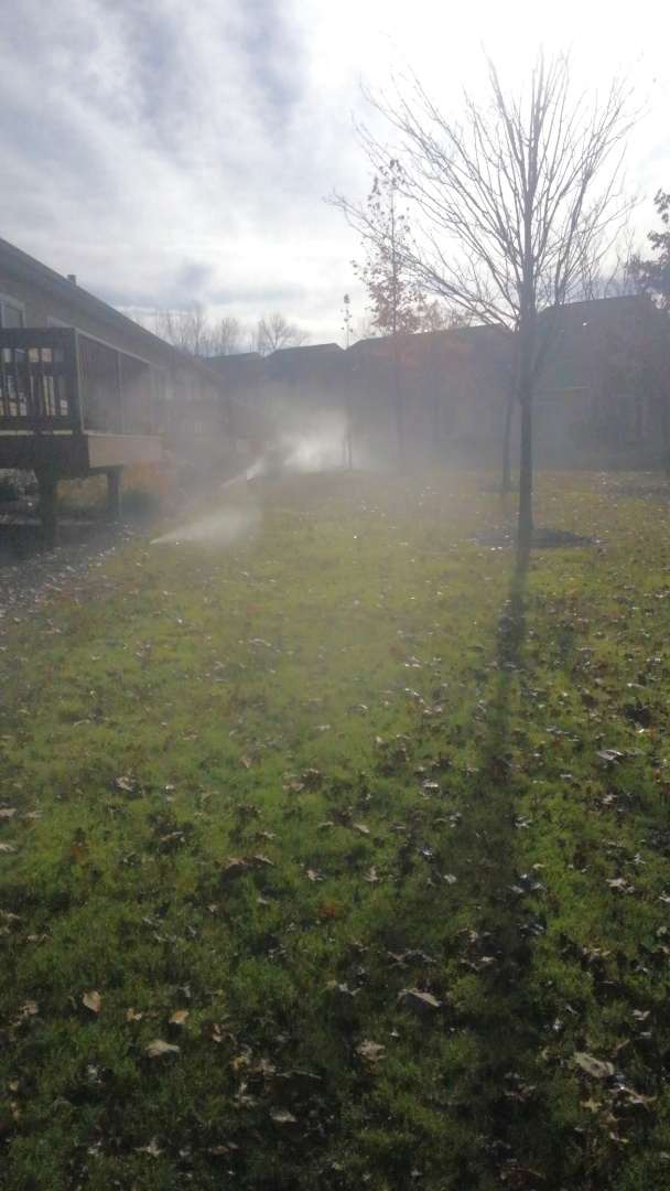 Livingston, NJ - Winterizing sprinkler system at apartment complex