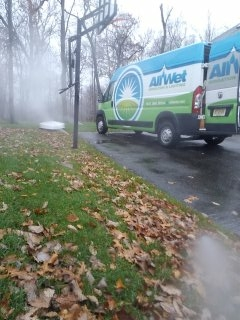 Kinnelon, NJ - 12 zone sprinkler system blow out to get us started on this gorgeous day; Kinnelon Winterizes!!!