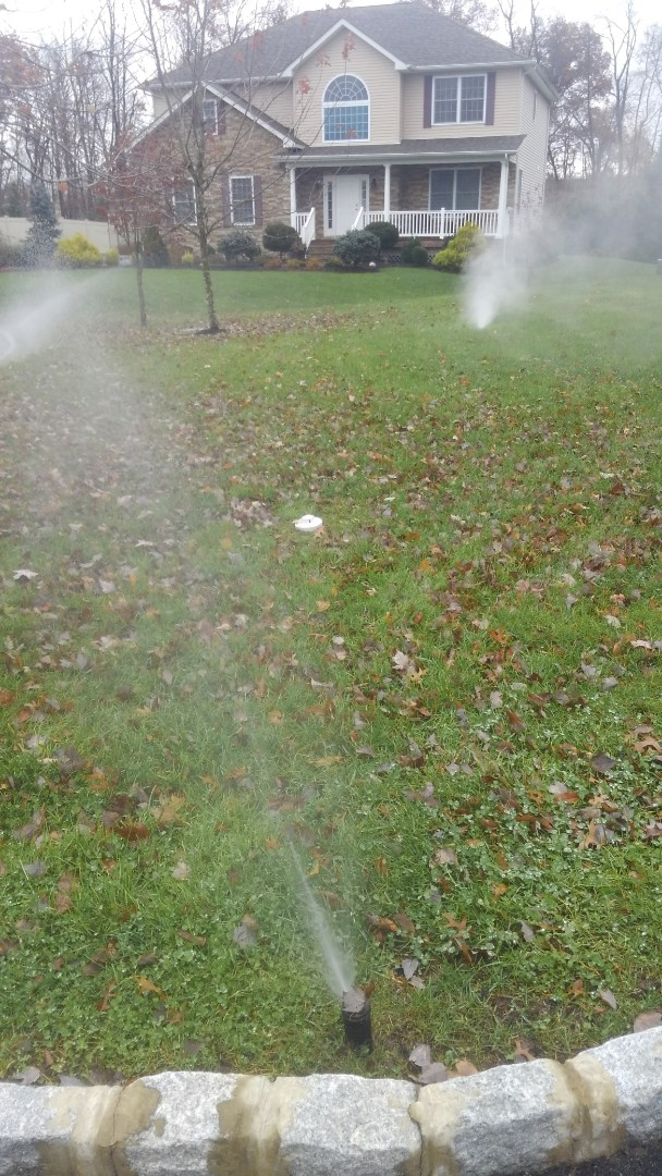 Winterize the irrigation system