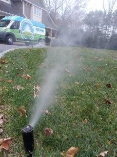 Millburn, NJ - 10 sprinkler system being winterized in Short Hills!!!