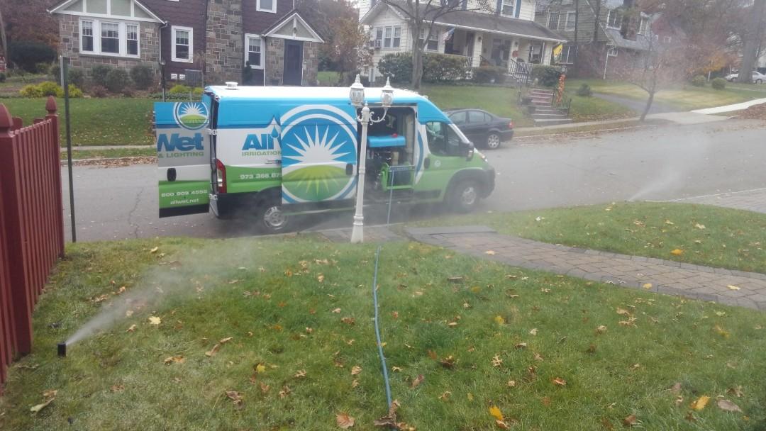 West Orange, NJ - Turn off and blow out sprinkler system