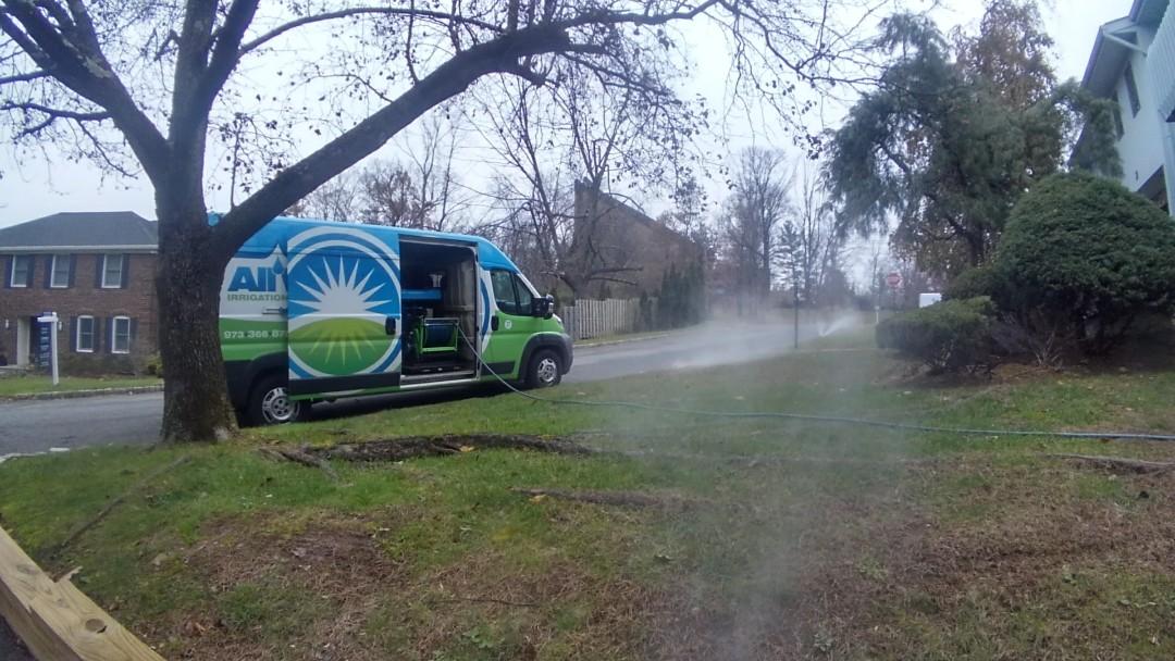 Millburn, NJ - Winterizing irrigation system