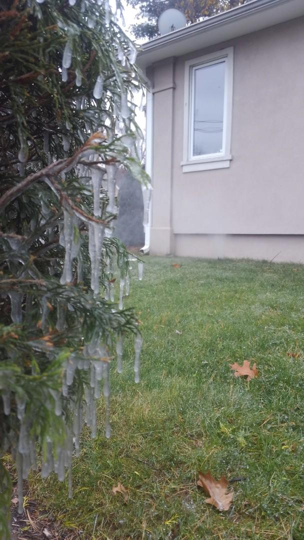 Millburn, NJ - Winter sprinkler system. Don't let it freeze