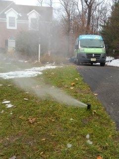 Bernardsville, NJ - 4 zone sprinkler system just about blown out; Bernardsville Winterizes!!!