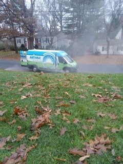 Bedminster Township, NJ - 8 station sprinkler system being blown out to start the day; Short Hills Winterizes!!!