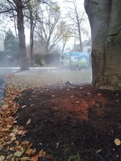 Bedminster Township, NJ - 8 zone sprinkler system being blown out; Summit Winterizes!!!