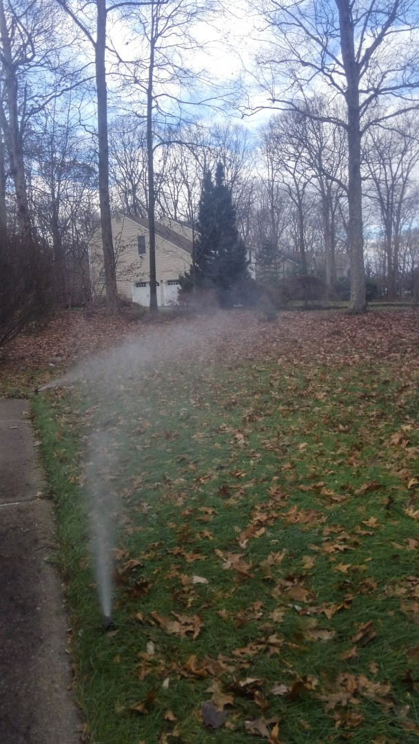 Winterize irrigation system