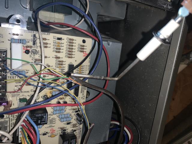 Keller, TX - Performed a heater repair in Keller. The flame sensor was dirty