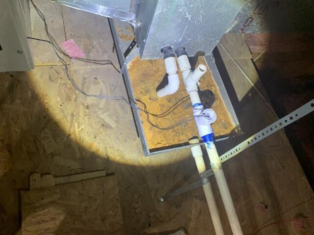 Keller, TX - Fixed a drain blockage on the AC unit in Keller