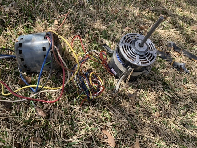 Replaced an AC motor in Saginaw