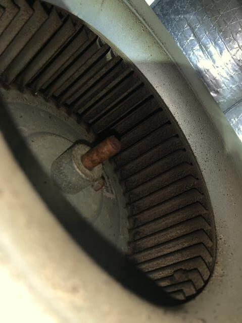 Cleaned a blower wheel during an AC tune up in Fort Worth