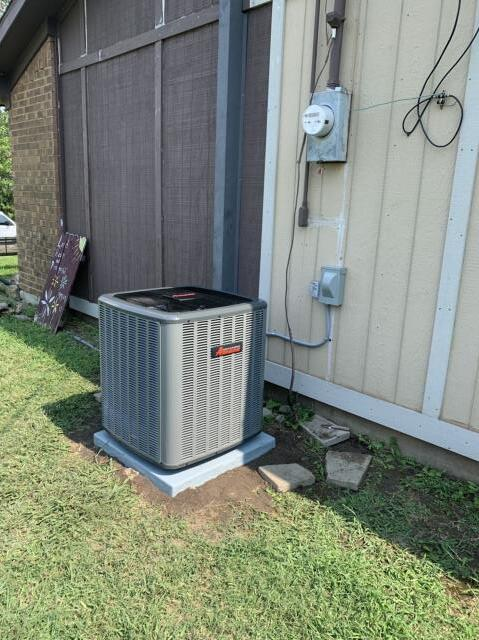Fort Worth, TX - Replaced an ac unit in Fort Worth