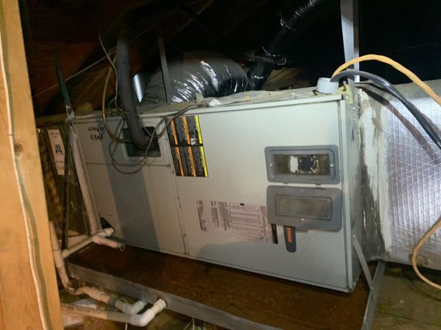 North Richland Hills, TX - Fixed a drain issue on this ac unit in North Richland Hills.