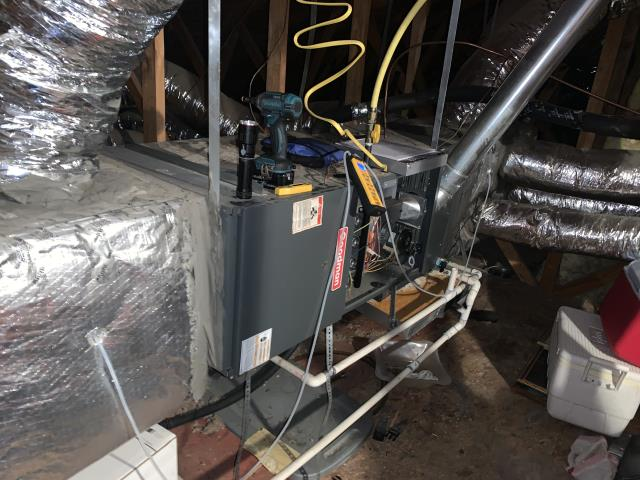 Performed a heating check up on this gas furnace in Southlake