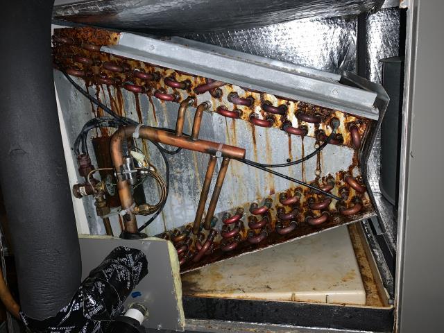 Found a Freon leak in a heat pump unit in Grapevine