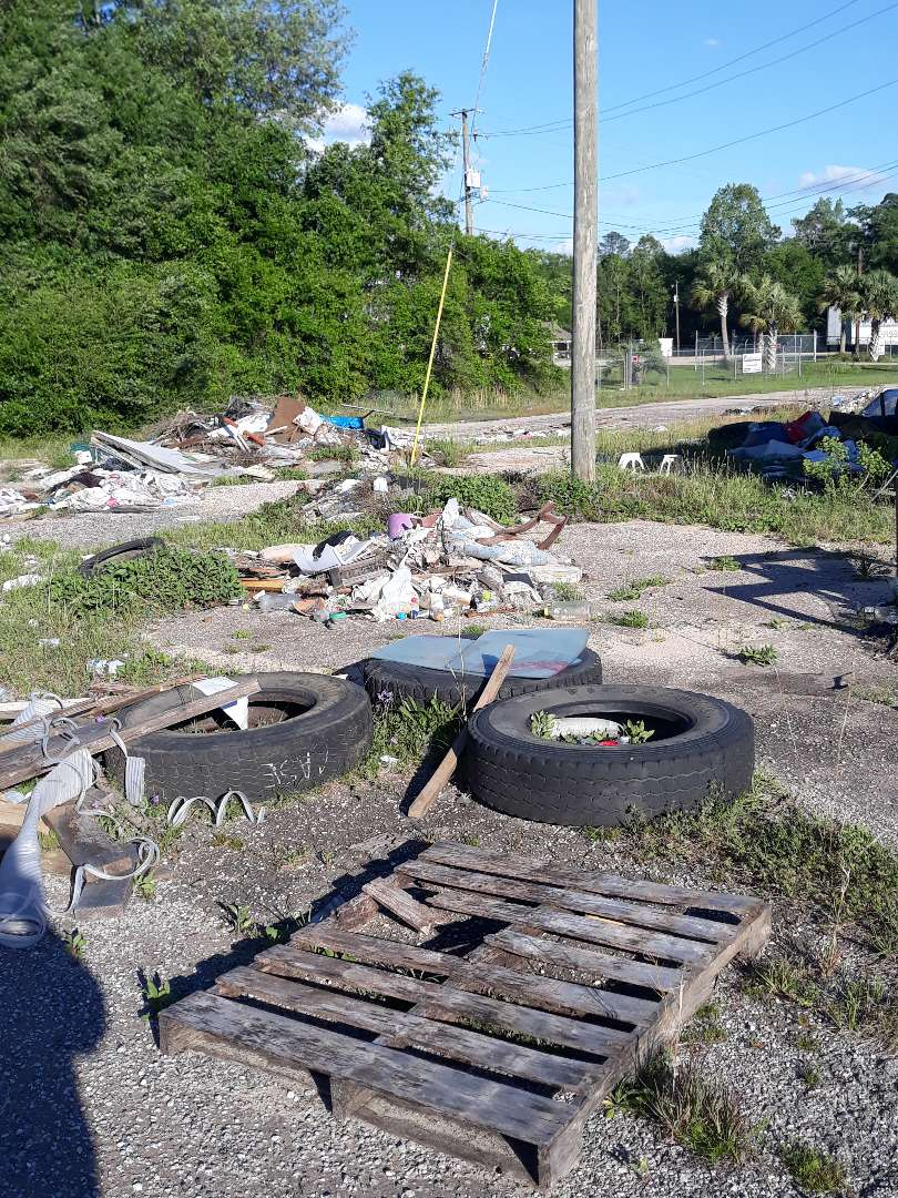 Surveying commercial clean up for a client whose property has become an illegal Dumping Ground for trash and junk and tires we'll get this project taken care of in the next week