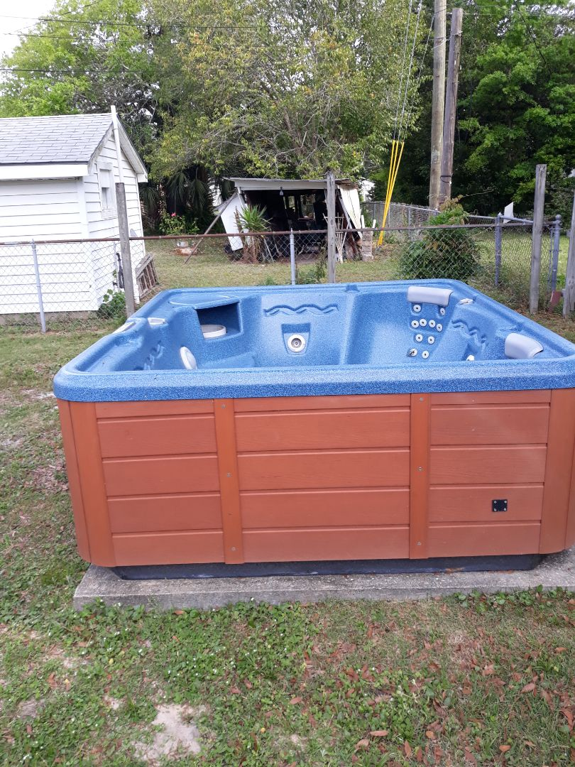 Removing a hot tub this morning
