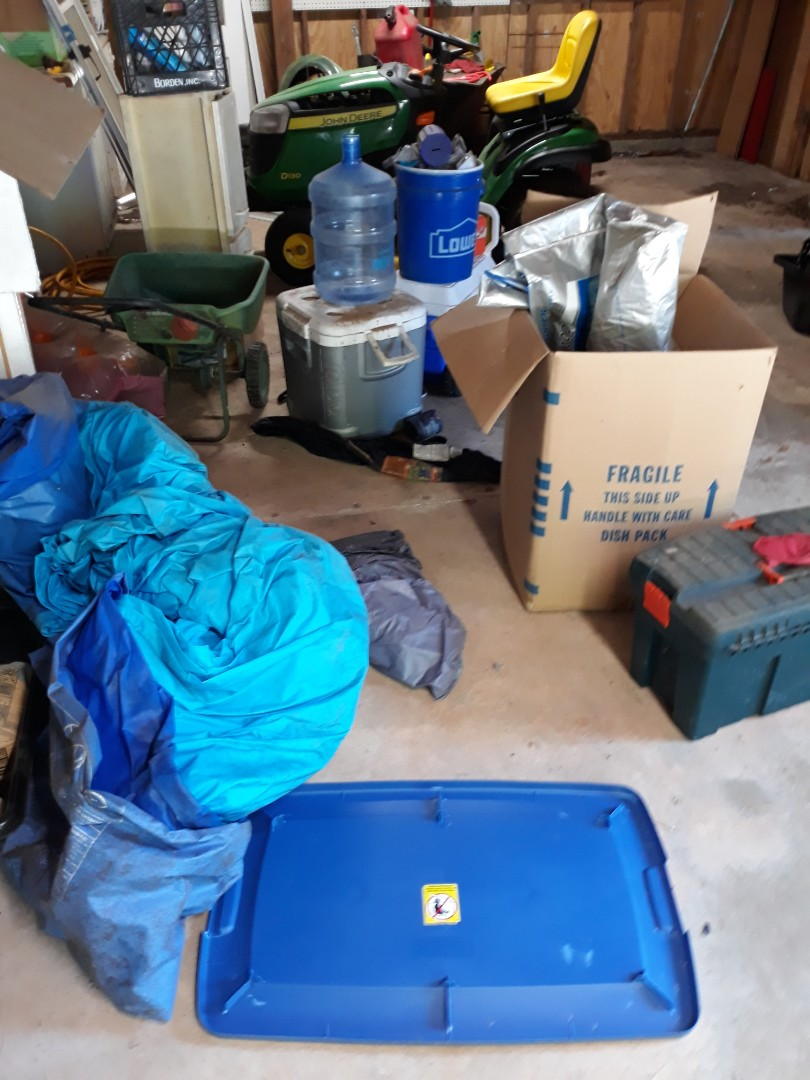 Cleaning out garage for customer