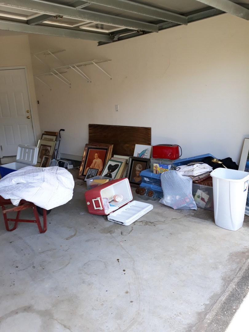 Junk removal in a garage