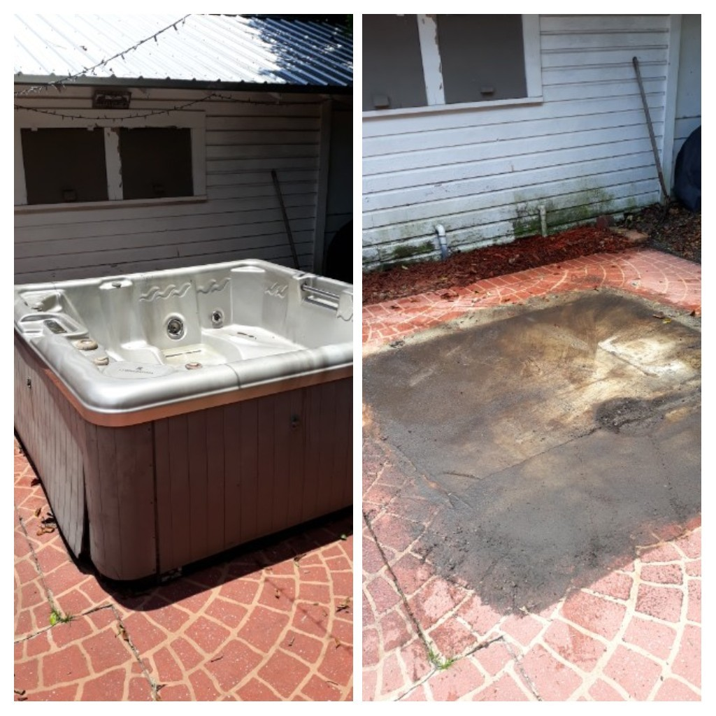 Remove a hottub for a customer