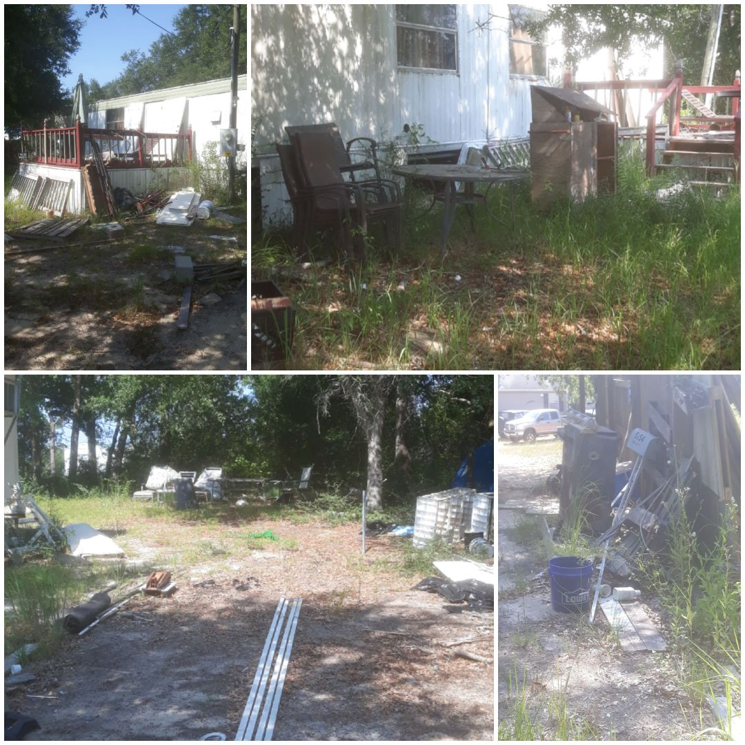 Mobile Home demolition and yard clean up.