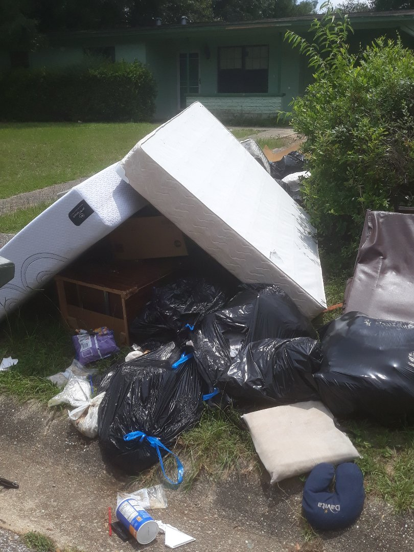 Junk removal and trash hauling from home for property management company.