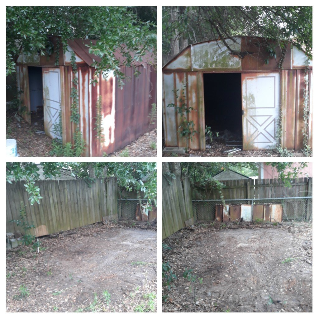 Just finish a shed clean out and tear down Good job by the team