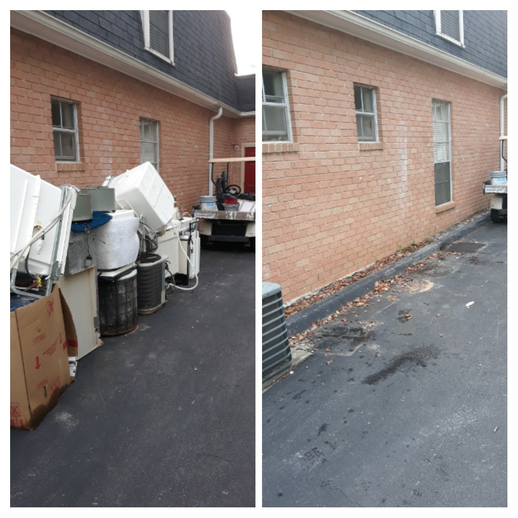 A apartment complex call us about remove old appliances for them this morning