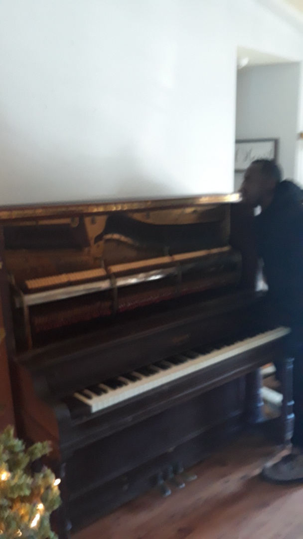 Remove this heavy piano this morning