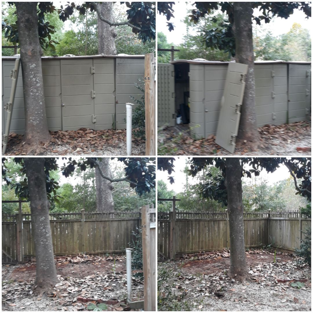 We removed a plastic shed for a customer this morning
