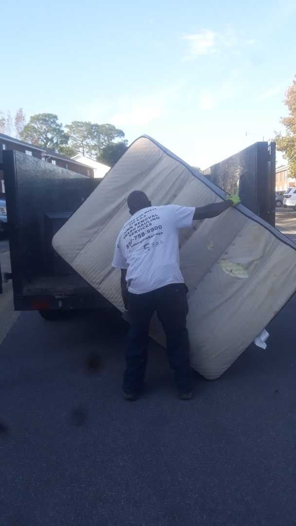 Household items for junk removal for tenant moving in Pensacola.  Mattresses and other items needed to be hauled