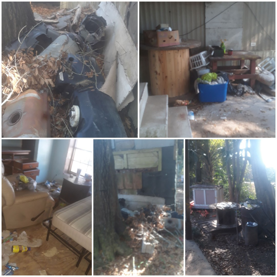 Interior and exterior clean up and clean out of mobile home, shed demolition, and haul away RV in Beulah