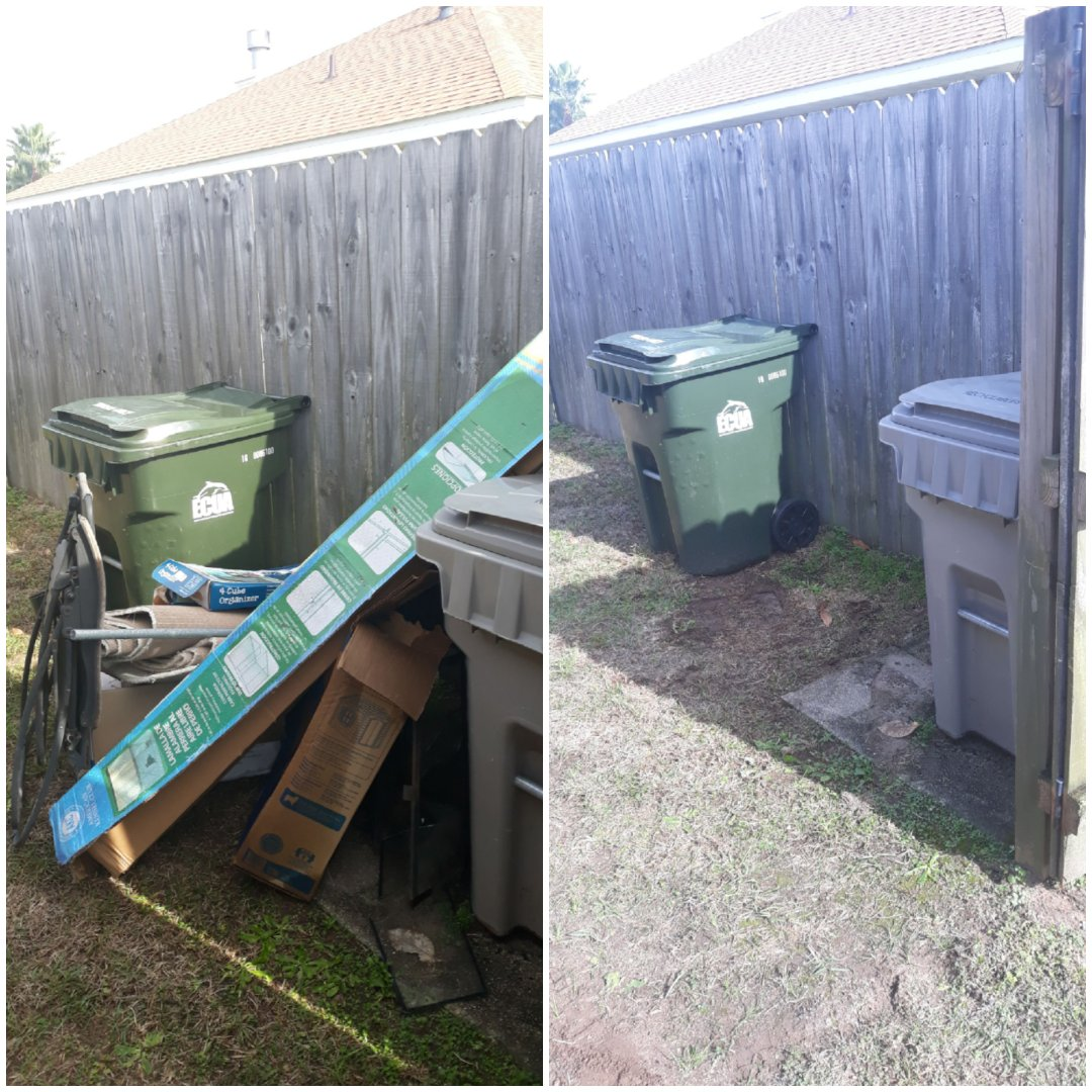 Remove some trash for a customer in there backyard today in Pensacola Fl