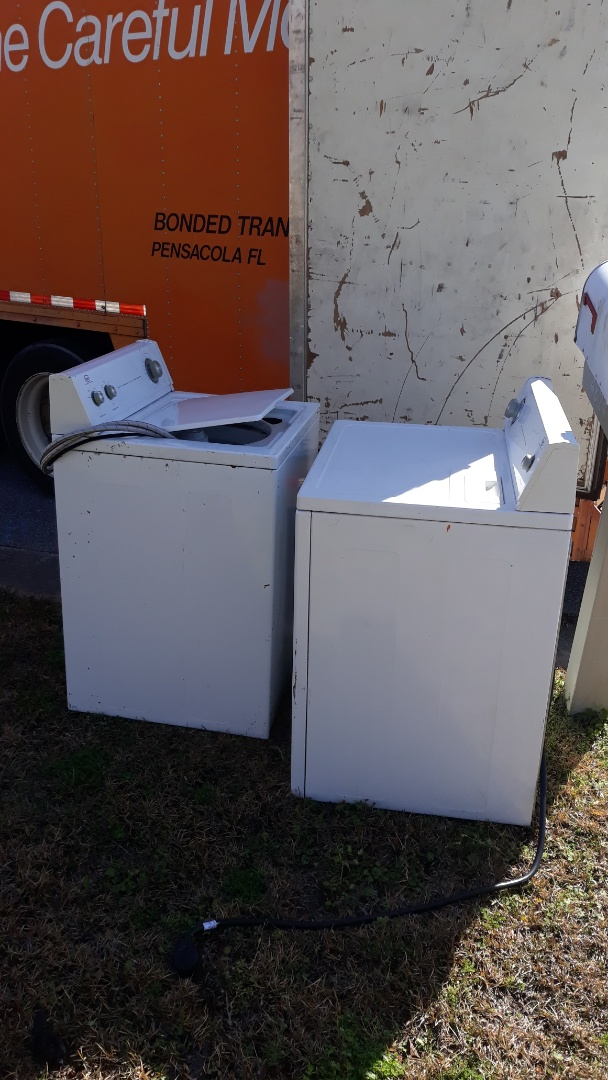 Pickup washer and dryer for a customer today in Pace Fl