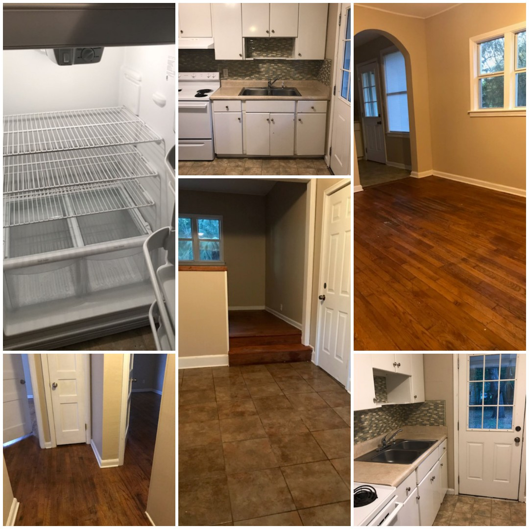 Deep clean completed at this adorable house near NAS. Blinds, ceiling fans, AC vents all dusted.  Kitchen and bath are sparking clean and it smells divine.  Property manager has unit on the market and it will be ready for the new tenant with our completed move in deep clean in Pensacola.