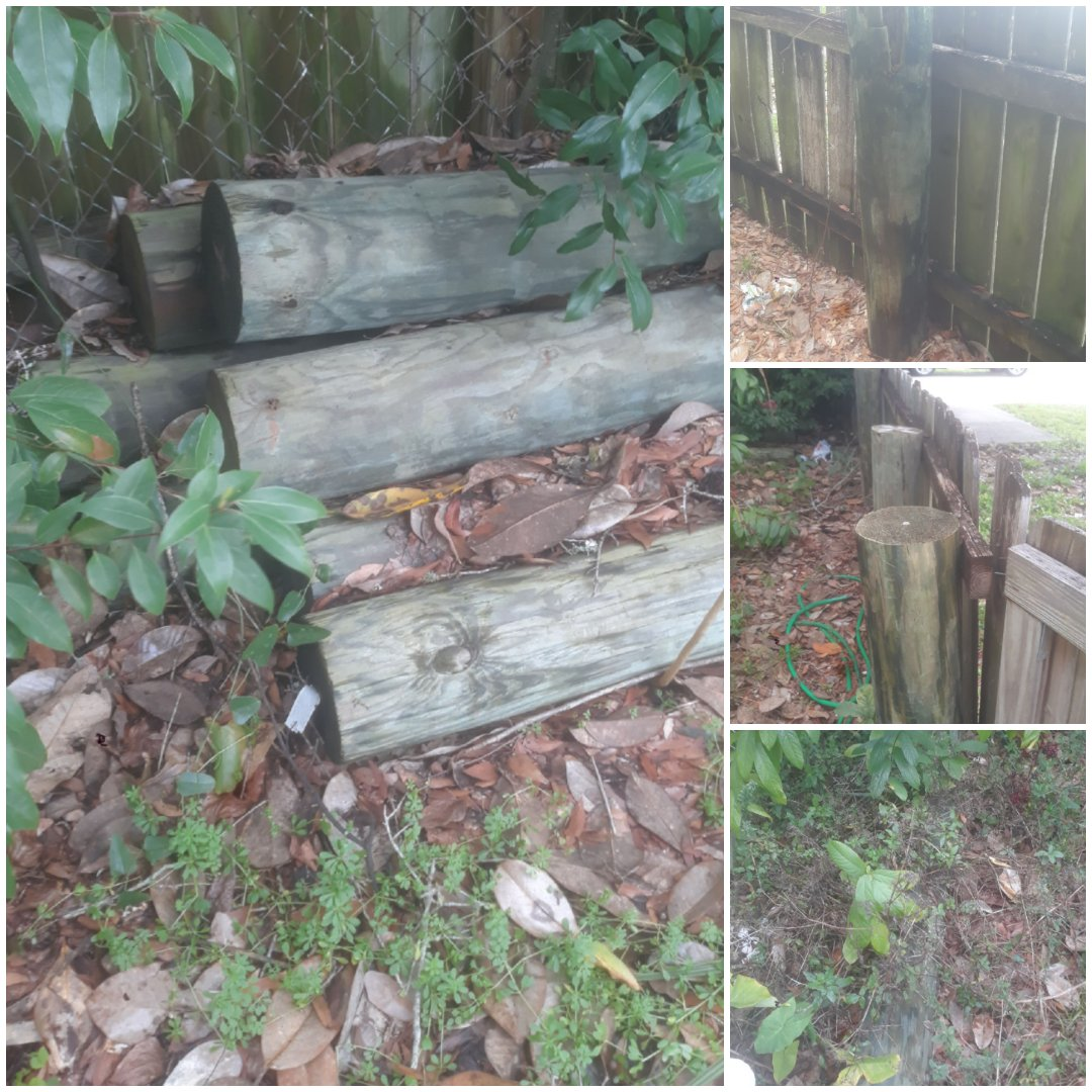 Fence demo and haul away posts and other wood debris.