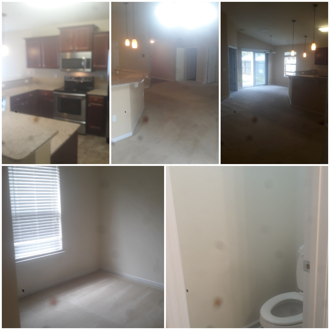 Deep clean completed for 3 bedroom home in Pensacola. Baseboards, ceiling fans, bathrooms, kitchen all are ready for the next tenant for this rental property.