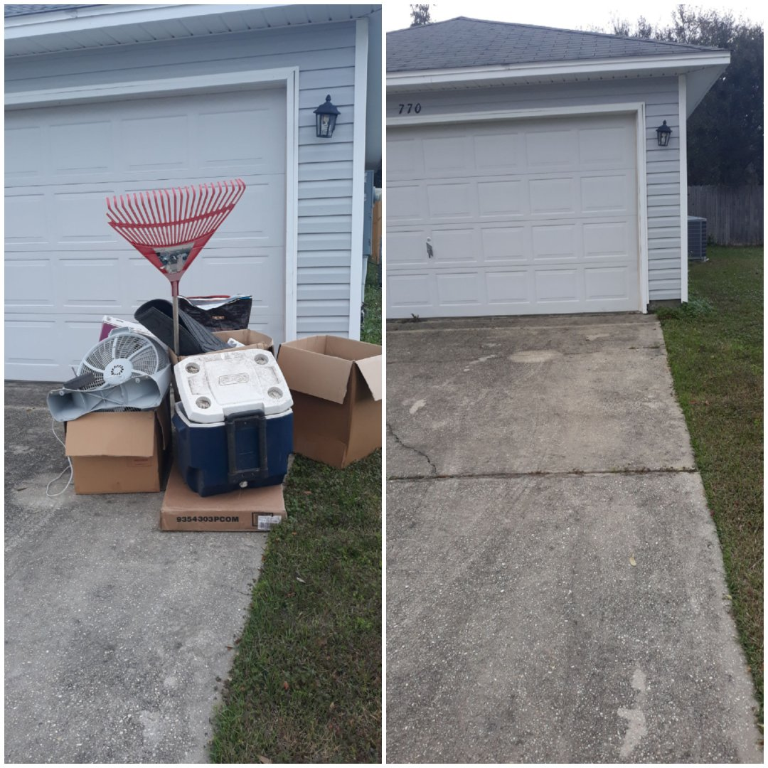 Did a trash removal for repeat customer today in Pensacola fl