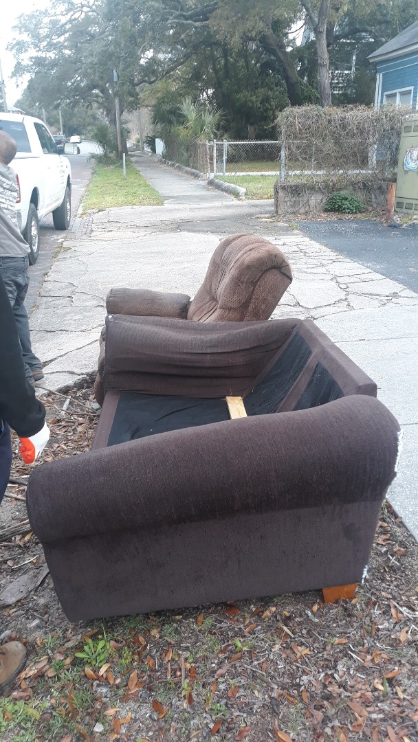 Pickup a couch and recliner for a customer today