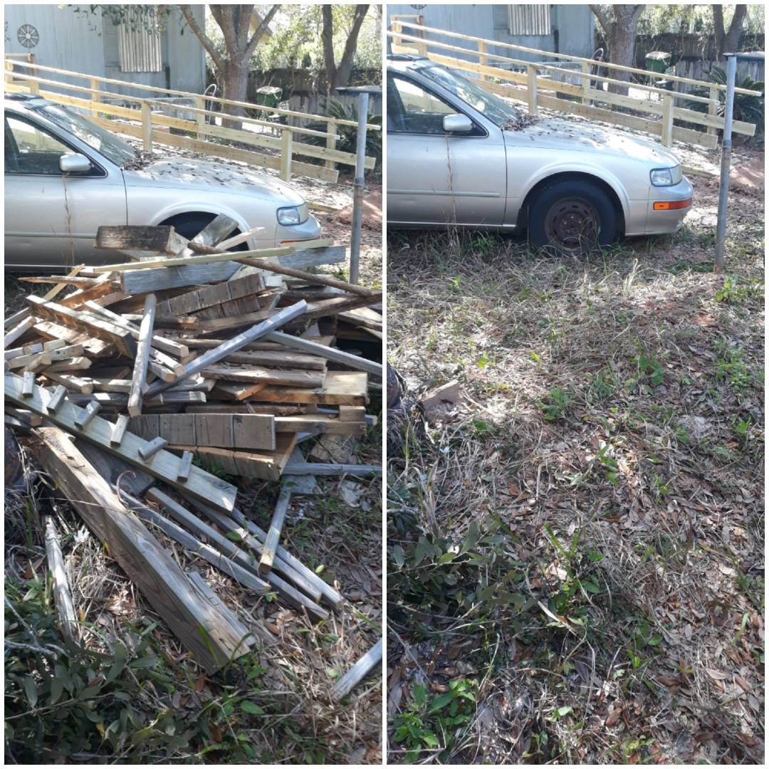 Remove a nice piles of wood for a repeat customer today here in Narrave Fl