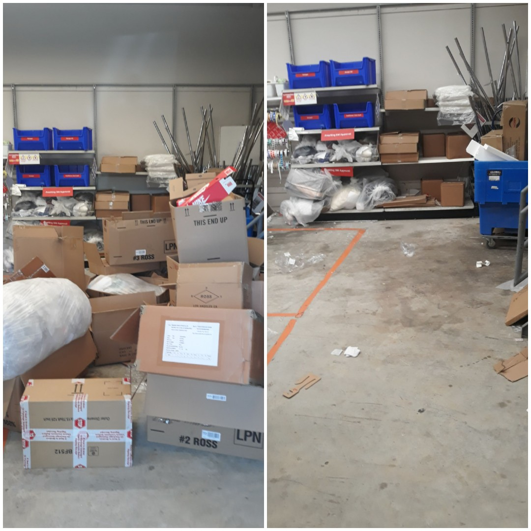 Just got done remove a lot of boxes for a local Retail Store