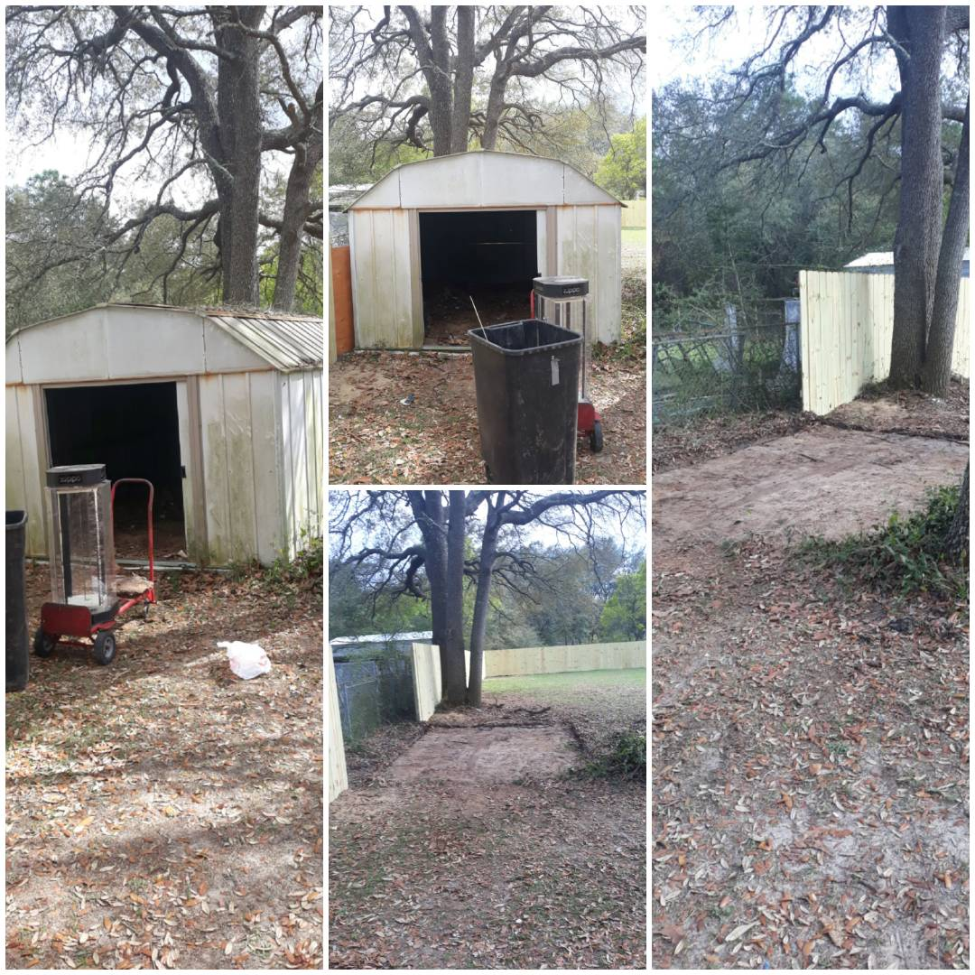 A complete shed teardown and removal