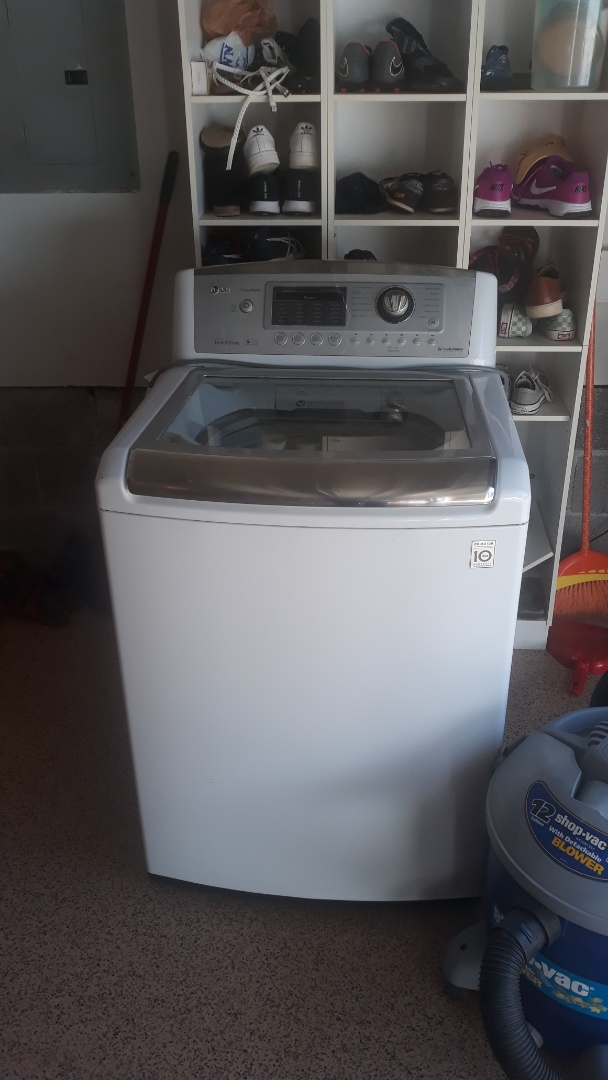 We got a call to come pickup this washer machine for a repeat customer