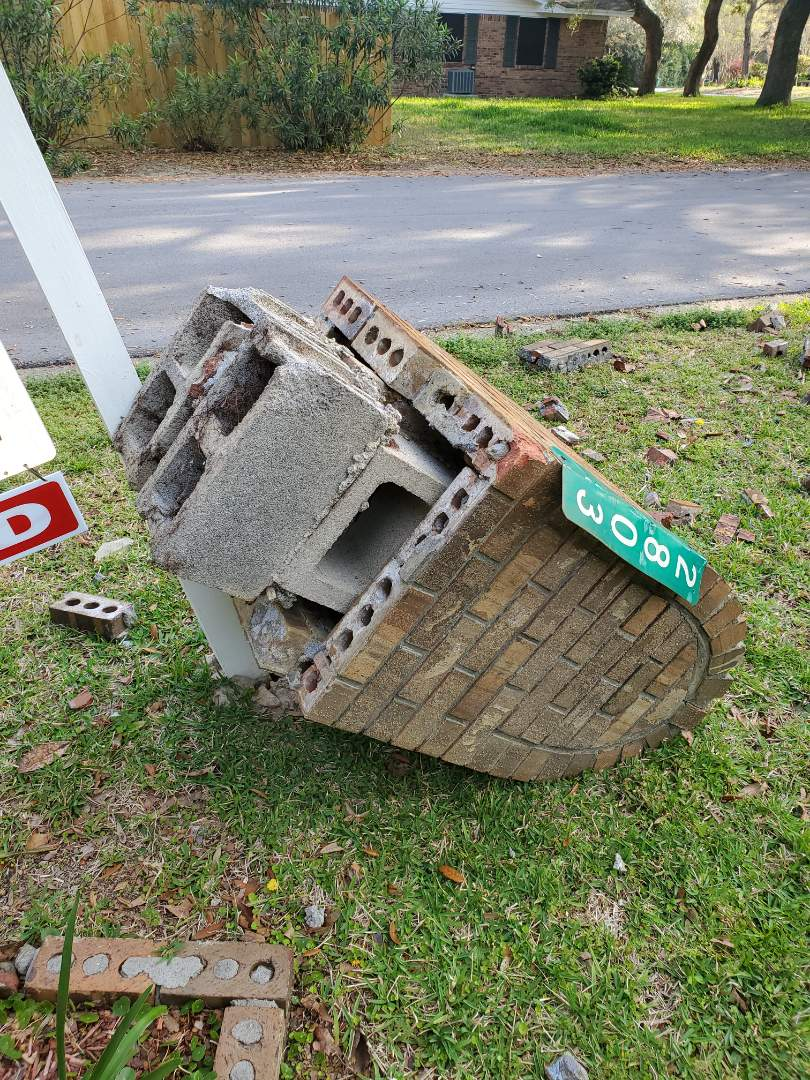 Client needs brick mailbox hauled away in Gulf Breeze.