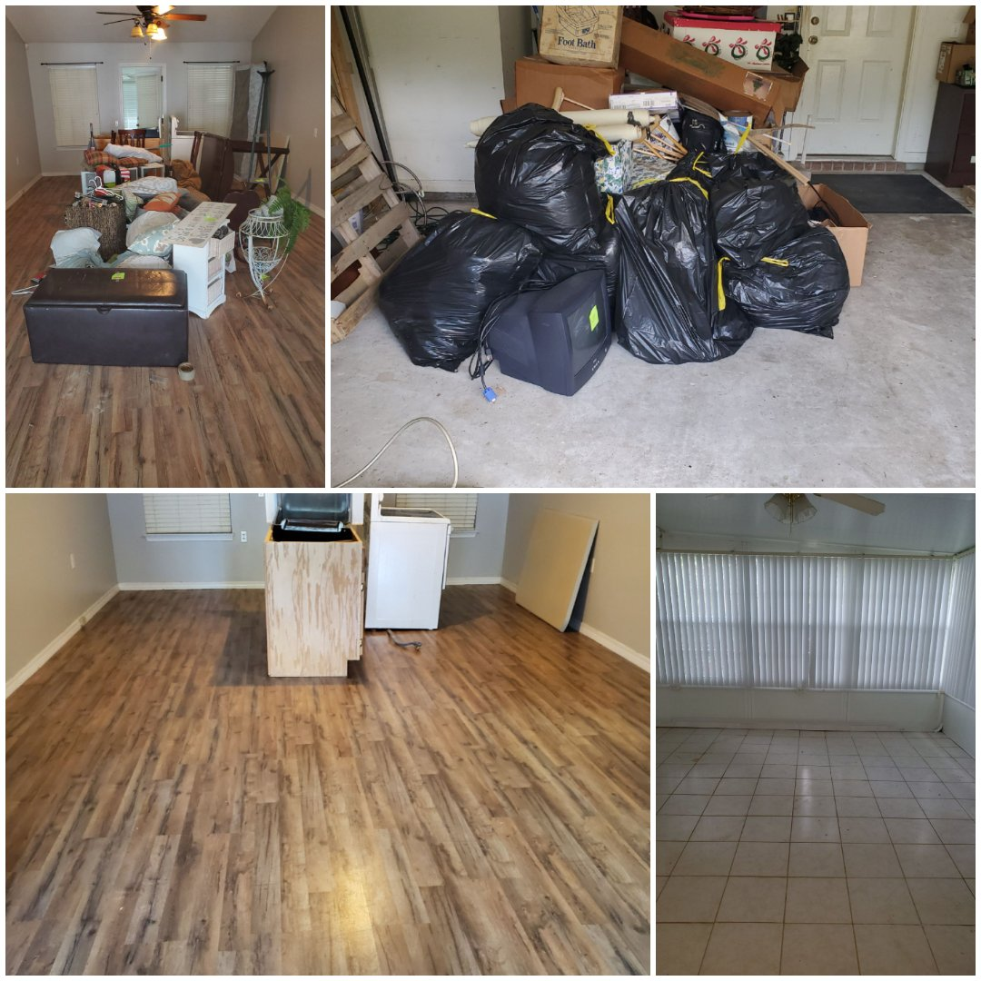 Clean out junk and unwanted items from garage and house interior for realtor in Pensacola!